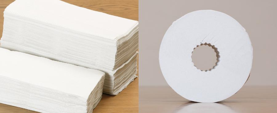 トイレットペーパー・ティッシュペーパーこそ、 リサイクルが重要。